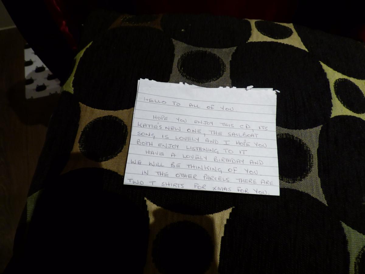 Mum's last letter.