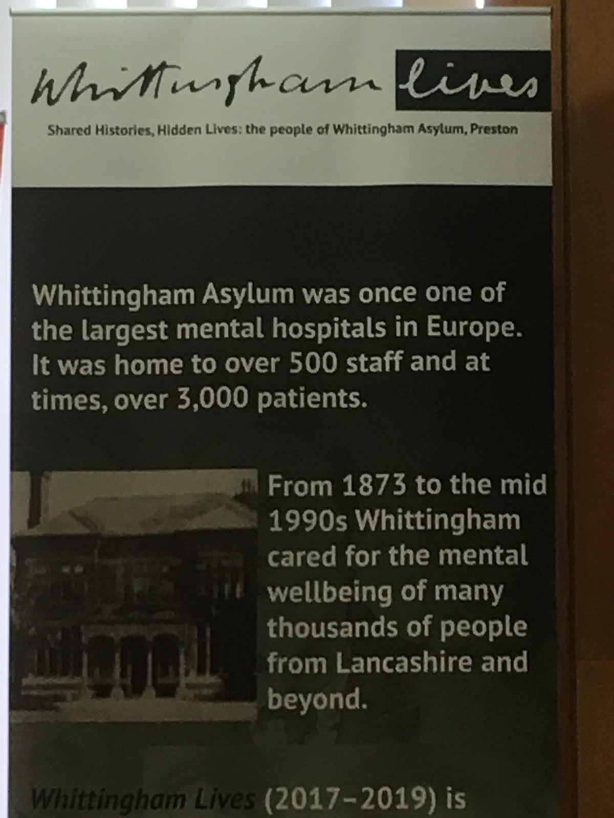 Voices of Whittingham….Past lives in an Asylum.